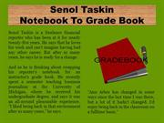 Senol Taskin Notebook To Grade Book